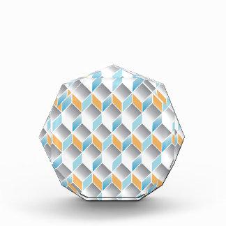 3d cube pattern - geometric design -seamless acrylic award
