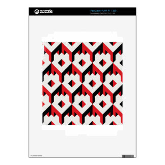 3d cube pattern - geometric design -seamless decal for iPad 2