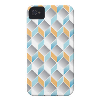 3d cube pattern - geometric design -seamless iPhone 4 cover