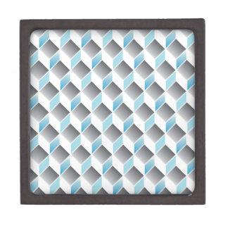 3d cube pattern - geometric design -seamless premium trinket box