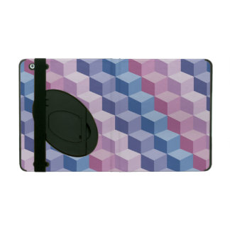 3D Cube Step Pattern in Pink, Blue iPad 2/3/4 Case