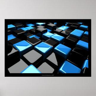 3D Cubes Art Poster