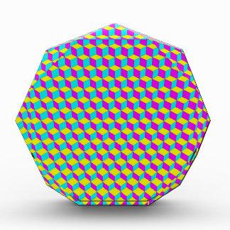 3D Cubes Grid Acrylic Award