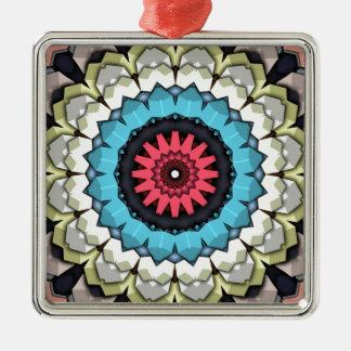 3D Cubes Mandala Metal Ornament