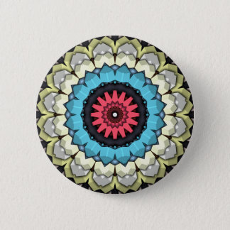 3D Cubes Mandala Pinback Button