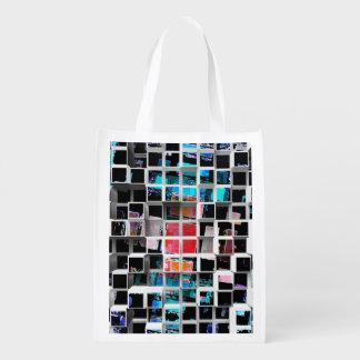 3D cubos coloridos 2 Bolsas Para La Compra