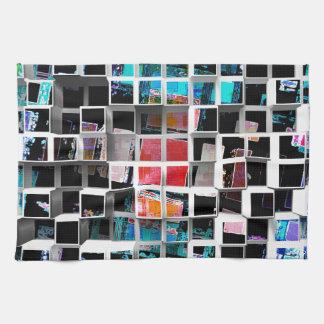 3D cubos coloridos 2 Toalla De Mano
