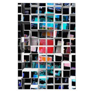 3D cubos coloridos 2 Tableros Blancos