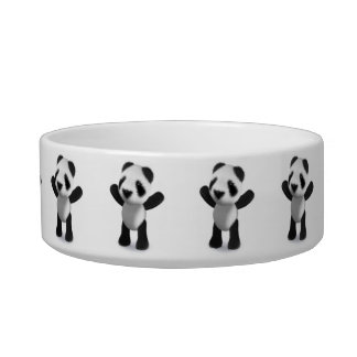 3d Cute Baby Panda Cheers! Bowl