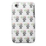 3d Cute Baby Panda Mistletoe iPhone 3 Case