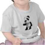 3d Cute Baby Panda Points Shirt