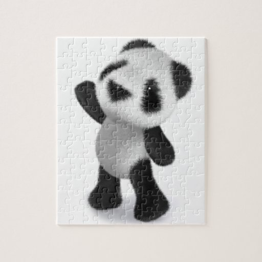 3d Cute Baby Panda Reaches for some Sweets! Jigsaw Puzzles