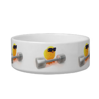 3d Cute Chick Weightlifter Bowl