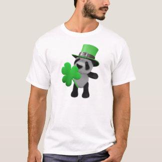 3d Cute Panda Leprechaun (editable) T-Shirt
