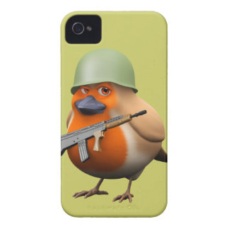 3d Cute Soldier Robin iPhone 4 Cases