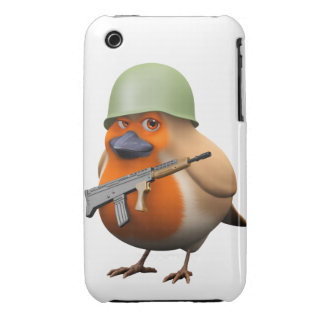 3d Cute Soldier Robin iPhone 3 Case