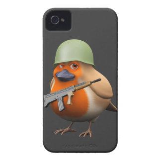 3d Cute Soldier Robin iPhone 4 Case