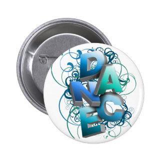 3D Dance (Spring) 2 Inch Round Button