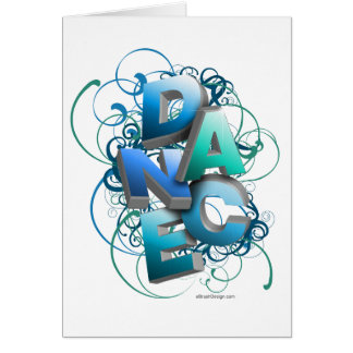 3D Dance (Spring) Greeting Card