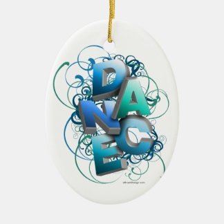 3D Dance (Spring) Ceramic Ornament