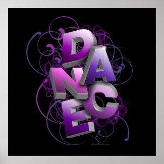 3D Dance (Summer) Print