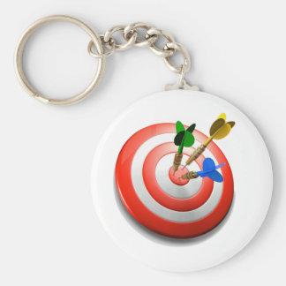 3D Darts BullsEYE Keychain