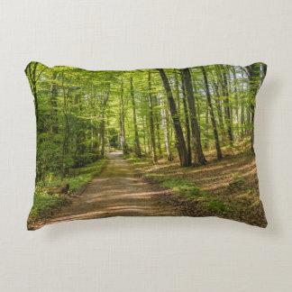 3D Decorative Forest Green Throw Pillow