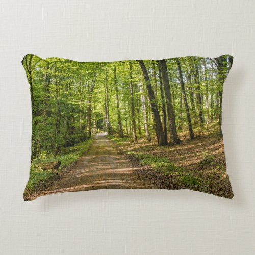 3D Decorative Forest Green Throw Pillow