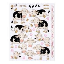 3D Decoupage - Cute Moo Cow Baby Cows Letterhead