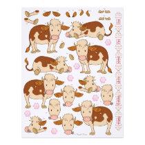 3D Decoupage - Cute Moo Cow Montelimar Cows Letterhead