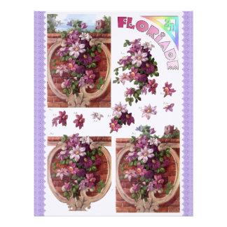 3D Decoupage - Floriade - flores de pared Membrete