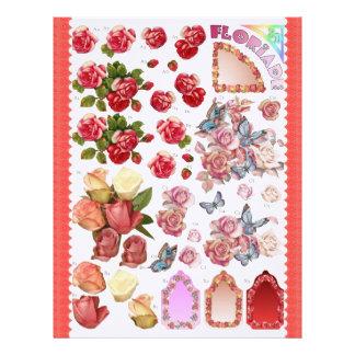 3D Decoupage - Floriade - Flowers and butterfly Letterhead