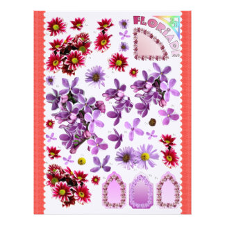 3D Decoupage - Floriade - Pink and Lilac Letterhead