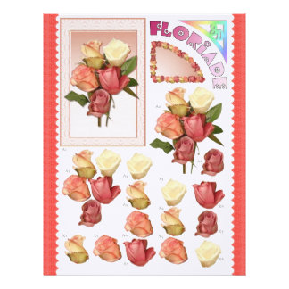 3D Decoupage - Floriade - Rose bunch Letterhead