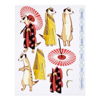 3D Decoupage - Meerkat Oriental Japanese & Indian Letterhead