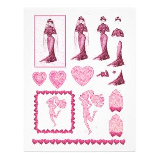 3D decoupage, Romance, hearts , deco-lady Letterhead