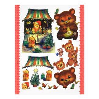 3D Decoupage -  Teddy bears, Christmas  market Letterhead