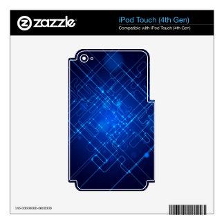 3d Deep Blue iPod Touch 4G Decal