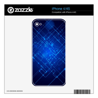 3d Deep Blue iPhone 4 Skins