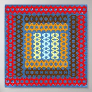 3D Depth Art  - Exotic Happy Patterns Poster
