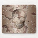 3D Desert Camo Skull Mouse Pads