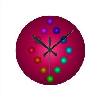 3D Designer Colorful Rainbow Contemporary Decor Round Clock