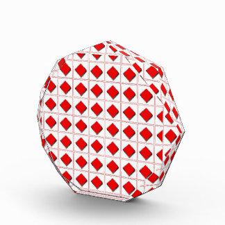 3D diamonds suit pattern Awards