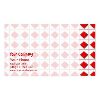 3D diamonds suit pattern Business Card