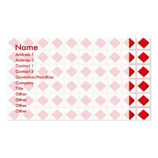 3D diamonds suit pattern Business Card Templates