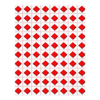 3D diamonds suit pattern Flyer