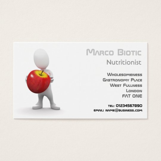 3d Diet, nutrition and food Business Card