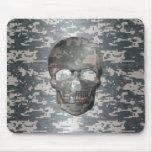 3D Digital Camo Skull Mousepad