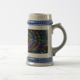 3D Dimensional Art Abstract Beer Stein