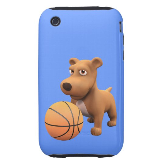 3d Dog Basketball Player (editable) iPhone 3 Tough Cover